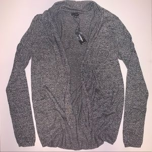 Express gray/black cardigan sweater